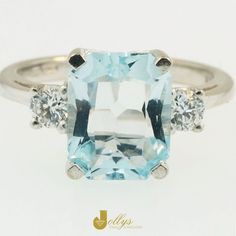After something truly extravagant? This stunning Aquamarine ring is the ultimate show stopper! If you're celebrating a birthday this March, drop your partner a little hint :)