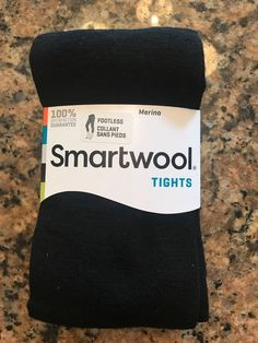 8c8560318 Smartwool Merino Wool Blend Footless Women Tights Sz Small NWT Black MSRP   42.95 sld 21+3.75