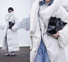 2015 сверхдлинным пункт одеяло пуховик личности утолщение тепловые зимняя одежда тенденция пуховик женские зимние купить на AliExpress