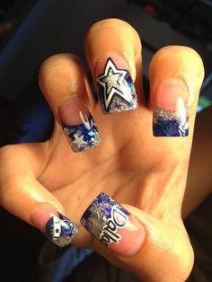 Party Nail Art Designs 2014 So pretty Nails 2014 Dallas Cowboys Nail Designs, Dallas Cowboys Nails, Dallas Cowboys Football, Art Football, Football Nails, Football Spirit, Football Season, Great Nails, Love Nails
