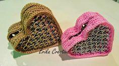 5 ideas de regalos para mamá / 5 gift ideas for Mothers' Day Pop Tab Crafts, Soda Can Crafts, Bead Crafts, Jewelry Crafts, Recycle Cans, Recycling, Soda Can Tabs, Crochet Coin Purse, Crochet Basket Pattern
