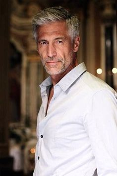 Handsome Gray Haired Male Model NYC Hair Salons www ...
