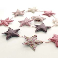 Numero 74 - Fabric stars garland Available at the shop and online Shop.bobokids.co.uk