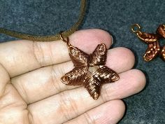 How to make wire jewelery - starfish pendant