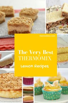 The very best Thermomix Lemon Recipes - perfect ways to use up all of those lemons you have lying around! Lemon Recipes Thermomix, Lemon Recipes Easy, Thermomix Desserts, Sweet Recipes, Baking Recipes, Cantaloupe Recipes, Radish Recipes, Chefs, Cheddarwurst Recipe