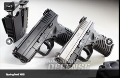 "Day 18 - 2x Springfield XD ACP .45 5"" barrel, akimbo twin pistols - $1100"
