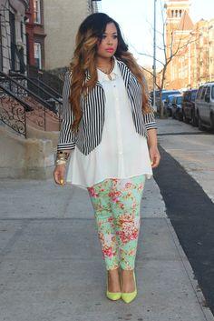 Mixing prints & patterns like a pro! Curvy Fashion Fresh!