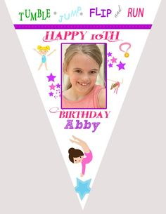 Gymnastic Birthday Banner