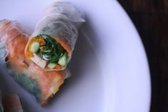 ... Spring roll on Pinterest | Avocado wrap, Roasted yams and Summer rolls