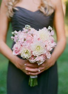 pink ruffly bouquet | Melissa Schollaert #wedding