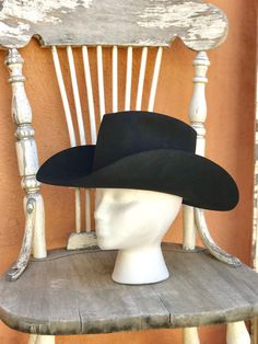 774cf6728222c Vintage Black Western Resistol Cowboy Hat XXX Beaver From Jones Western  Store Arizona