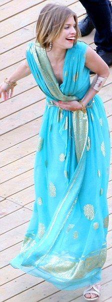 Love the sari-dress.