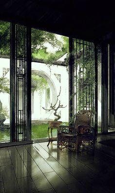 By Ibuki Satsuki Chinese Garden, Chinese Art, Fantasy Landscape, Landscape Art, Photo Japon, Asian Architecture, Pavilion Architecture, Architecture Office, Futuristic Architecture