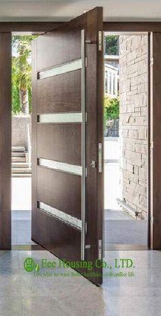 Modern Wood Doors Exterior Solid Wood Pivot Front Door For Sale Modern External Pivot Doors Modern Wood And Glass Front Doors Modern Wood Doors, Modern Entrance Door, Contemporary Front Doors, Wood Entry Doors, Wood Exterior Door, Modern Front Door, Front Door Entrance, Front Door Design, Glass Front Door