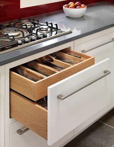Handmade oak, soft close drawers.  www.harveyjones.com
