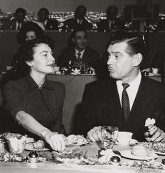 Ava Gardner and Clark Gable at MGM's 25th Anniversary (1949)