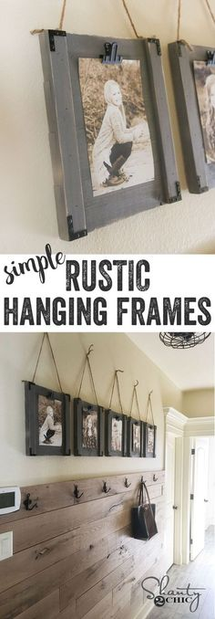 LOVE these frames! SO simple... Great way to display the kids pictures easily without messing with a glass frame!
