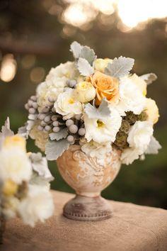 Beautiful soft colored centerpiece - Studio EMP, Jenny B. Floral Design