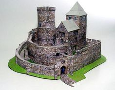 BEDZIN  medieval castle, Poland, paper model kit 1:160 N scale #GPM