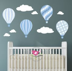 Hot Air Balloon Wall Decal feat. a by EnchantedInteriorsUK on Etsy