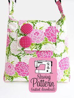 Daphne Handbag PDF Pattern | Bag Sewing Pattern | Purse Sewing Pattern PDF | Bag Pattern PDF | Shoulder Bag Sewing Instructions