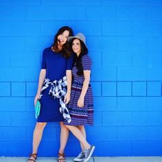 Blue on blue.. nothing better. Especially with friends. #converse #dress…