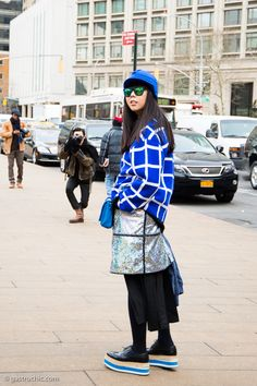 Susie Bubble at Richard Chai Love #streetstyle #fashion on http://www.gastrochic.com