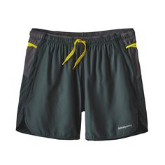 """The Patagonia Men's Strider Pro Shorts (5"""") are designed for the core trail runner, carrying only what you need for a full day of mountain running."""