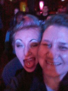 Jenni Pink of Hudson's House Of Ink and I at local metal band Shadowed Self's Knoxville show Feb 2016!!!