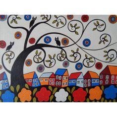 Lukisan Objek Teknik Dot Motif Kota & Pohon  Panjang : 70 cm  Lebar : 90 cm  Bahan : Kanfas, Cat Vynilex  Lukisan ini menggunakan Teknik Melukis Dot (Dot Painting).  Lukisan titik (dot painting) ini menggambarkan sebuah cerita. Pelukis dot menciptakan gambar dengan menerapkan titik-titik berbagai warna, dengan menggunakan alat-alat primitif seperti tongkat, duri moncong dan paku yang di lakukan pada suku Aborigin. Tapi sekarang sebagian seniman memadukan seni Lukisan titik (dot painting)…