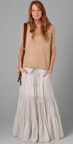 Free People Isn't She Peasant Maxi Skirt | SHOPBOP