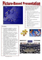 English worksheet: Picture-based Presentation - The European Union