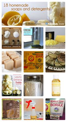 Homemade Soaps and Detergents Idea Box by Colleen Anderson Yay! Natural and homemade soaps and detergents that actually work AND smell great--so awesome! Natural and homemade soaps and detergents that actually work AND smell great--so awesome! Homemade Cleaning Products, Cleaning Recipes, Soap Recipes, Natural Cleaning Products, Cleaning Hacks, Household Products, Homemade Beauty, Diy Beauty, Vida Natural