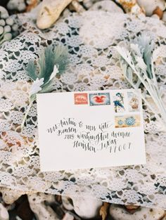 Whimsical calligraphy: http://www.stylemepretty.com/destination-weddings/2015/04/24/whimsical-elegant-backyard-wedding-inspiration/ | Photography: Wendy Laurel - http://www.wendylaurel.com/