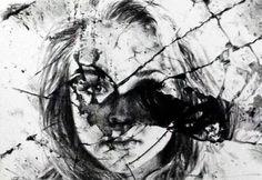 art broken mirror on canvas - Searchya - Search Results Yahoo Bildsökresultat Broken Mirror Art, Broken Glass Art, Shattered Glass, Smash Glass, Gcse Art Sketchbook, Sketchbook Project, Broken People, A Level Art, Ap Art
