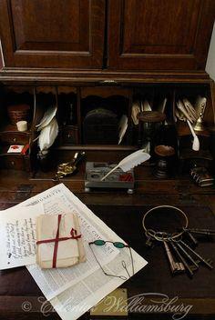 Desk at Weatherburn's Tavern  Colonial Williamsburg's Historic Area. Williamsburg, Virginia Photo by David M. Doody