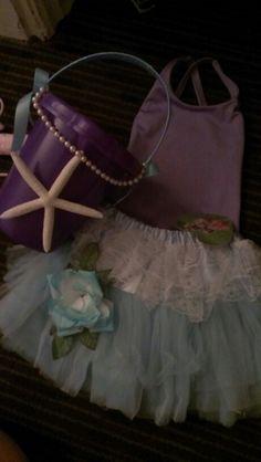 Flower girl For Beach Wedding. Ralph Lauren Bikini And Tutu Bucket Made By Yours Truly purple blue. Summer