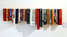 Green DIY Bookshelves - The 'Book Book Shelf' by Not Tom Recycles Your Old Novels (GALLERY)
