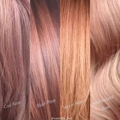 """1,382 Likes, 96 Comments - Kenra Professional (@kenraprofessional) on Instagram: """"#Kenra Educator @cassieliz_hair created these four different #rosegold colors and we wanted to…"""""""