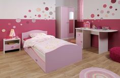White Bunk Beds, Girl Room, Pink White, Toddler Bed, Furniture, Home Decor, Beautiful, Quartos, Child Bed