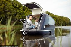 A WACKY inventor is hoping to make waves in the world of glamping after creating a floating caravan