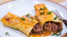 Make @cristinacooks's Beef Cannelloni with Taleggio Sauce! It will change your life. #homeandfamily
