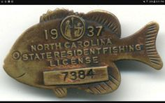Don't know why they discontinued the concept of a fishing license pin. Great idea, and collectible.