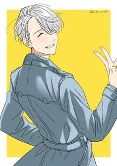 Yuri on ice: Victor Nikiforov Manga Anime, Fanarts Anime, Anime Guys, Anime Characters, Yuri Plisetsky, Yuri On Ice Fondos, Victor Yuri, Manhwa, Yuri!!! On Ice