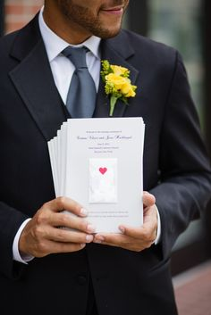 order of service with confetti envelope