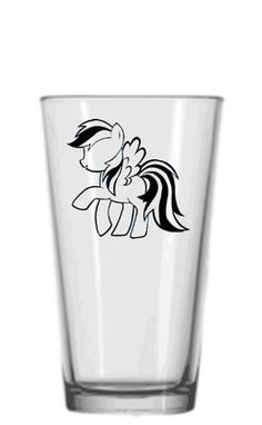My Little Pony: Friendship is Magic Rainbow Dash brony glass