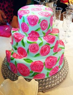 lilly pulitzer birthday cakes | birthday cake fit for Lilly Pulitzer herself!