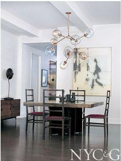 LIGHT FIXTURE | architect David Howell's dream home