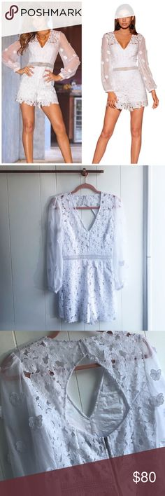 d41421df5c New Boston Proper Daisy Lace Romper Brand new without tags! Size 4. White.