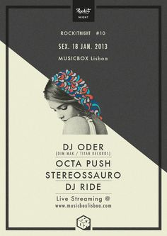 Rockit Nights @ Lisbon by Carlos Quiterio, via Behance